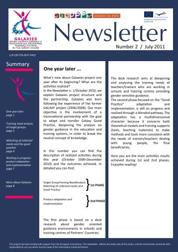 Download newsletter Issue 2 - Galaxies