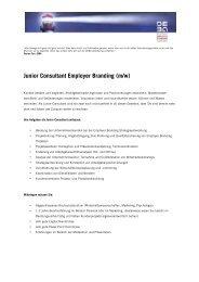 Junior Consultant (m/w) gesucht!