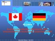 Deutsch-Kanadische Wissenschaftsbeziehungen und ... - GAIN