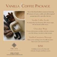 VANILLA COFFEE PACKAGE - Rancho Bernardo Inn
