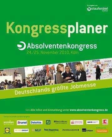 Kongressplaner - Absolventenkongress