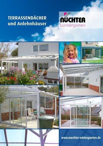 TERRASSENDÄCHER und Anlehnhäuser - Nüchter-Wintergarten ...