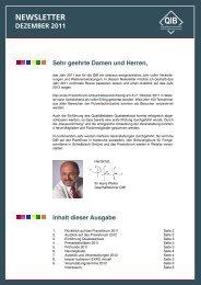 Newsletter Dezember 2011 - Qualitätsgemeinschaft ...