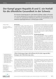 Der Kampf gegen Hepatitis B und C - Schweizerische Ärztezeitung
