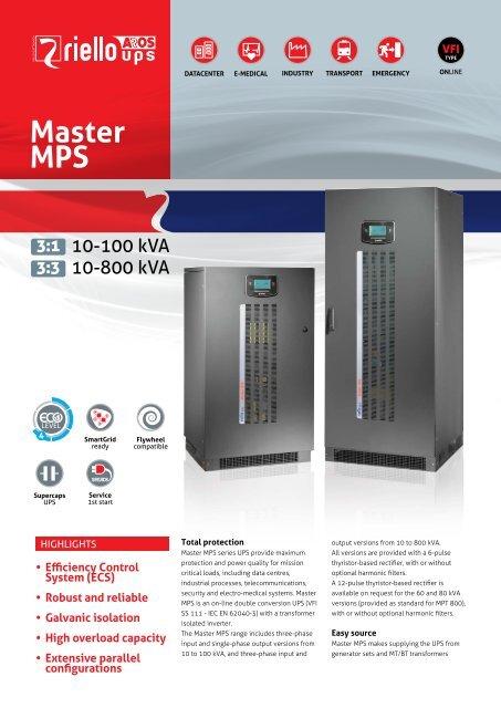 Master MPS - Riello UPS