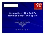Observations of the Earth's Radiation Budget from Space Abstract