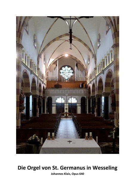 Die Orgel von St. Germanus in Wesseling - Klais