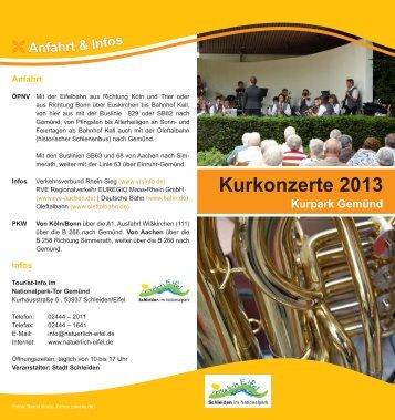 Kurkonzerte 2013 - Stadt Schleiden