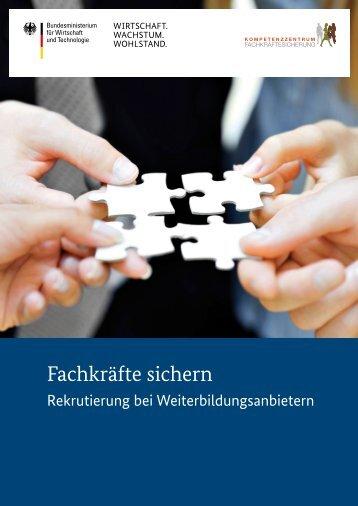 Rekrutierung bei Weiterbildungsanbietern - Kompetenzzentrum ...