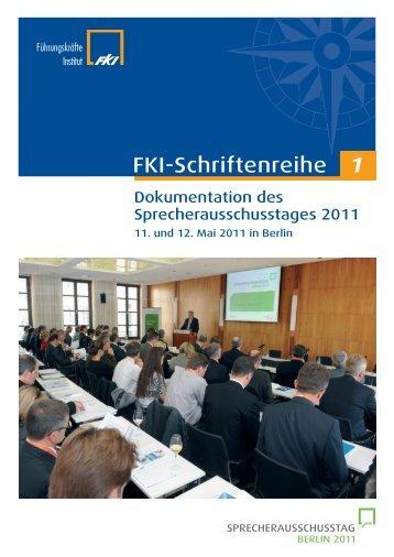 Inhaltsübersicht, Kapitel 1 bis 7 - Das Führungskräfte Institut FKI