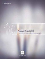 Annual Report 2003 - oaciq