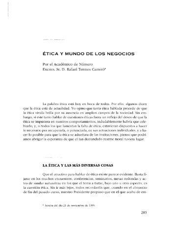 ÉTICA Y MUNDO DE LOS NEGOCIOS - Real Academia de Ciencias ...