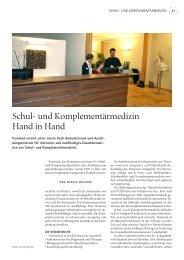 Schul- und Komplementärmedizin Hand in Hand - Mir z'lieb