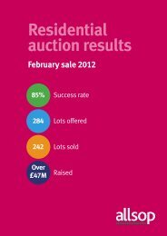 Residential auction results February sale 2012 85% - Allsop