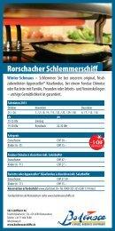 Flyer Rorschacher Schlemmerschiff