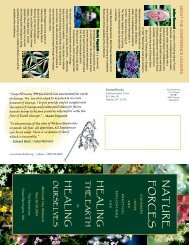 View the conference brochure - Flower Essence Society
