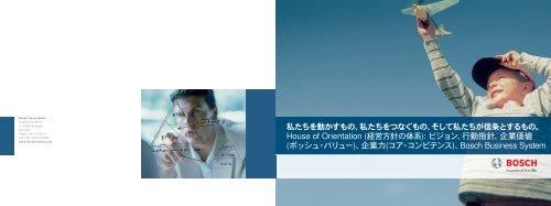 House of Orientation (経営方針の体系): ビジョン、行動 ... - Bosch-Career