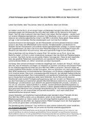 Kritik - Eine Welt Netz NRW