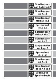 Spreitenbach nga A deri në Z Spreitenbach od A - Ž Spreitenbach ...