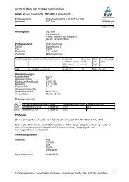 GUTACHTEN zur ABE Nr. 45527 nach §22 StVZO Anlage 20 zum ...
