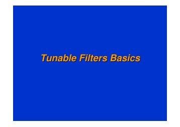 Tunable Filters Basics