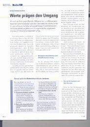 Werte prägen den Umgang - Dr. Kraus & Partner