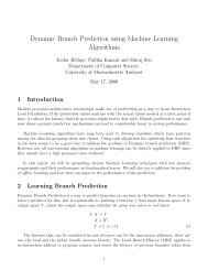 Dynamic Branch Prediction using Machine Learning Algorithms