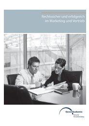 Rechtssicher und erfolgreich im Marketing und ... - GenoAkademie