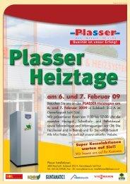 Flyer 2-seitig Heiztage 0109 - Plasser Installationen
