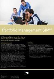 Portfolio Management SIM - game solution ag