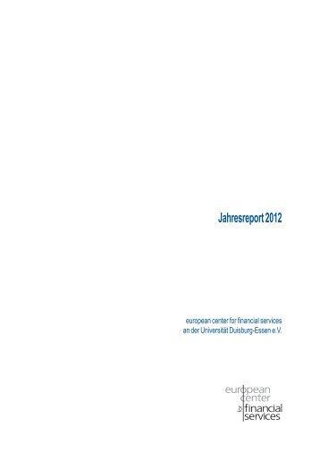 Jahresreport 2012 - ecfs