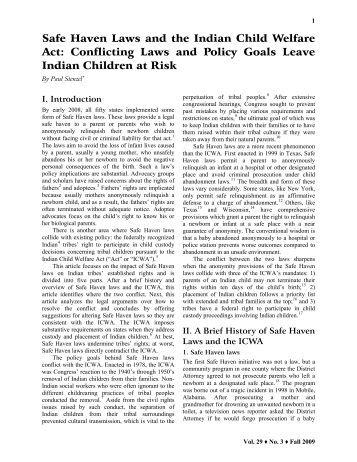 safe haven laws essay J pediatr nurs 2007 oct22(5):397-401 safe-haven laws focus on abandoned  newborns and their mothers kunkel ka(1) author information: (1)neonatal.