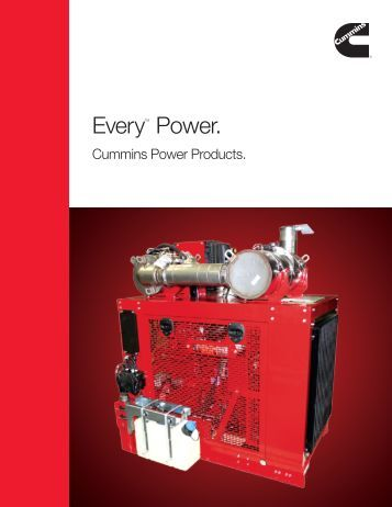 EveryTM Power. - Cummins Engines