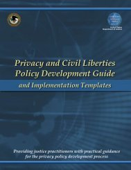 Privacy and Civil Liberties Policy Development Guide - SEARCH ...