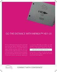 GO THE DISTANCE WITH INFINEA™ HD1-LX - 3G Electronics