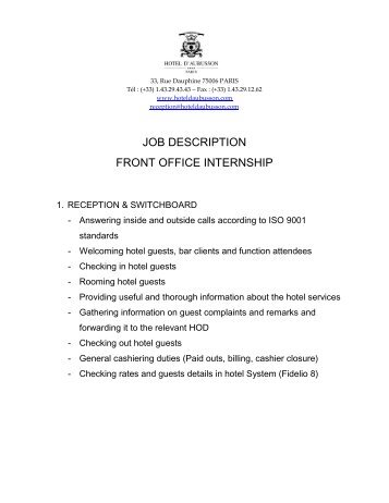 CommunicationsOfficerInternshipJobDescriptionJanuaryPdf