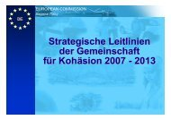 Strategische Leitlinien der Gemeinschaft für Kohäsion 2007 - 2013 ...