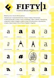 FIFTY|1 — FontFont-Release-Magazin Nr. 2 - Fontblog
