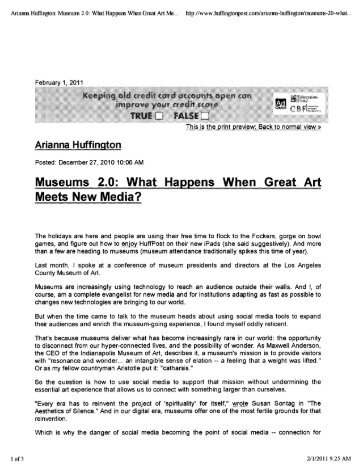 Museums 2.0: What Happens When Great Art ... - City of Chandler