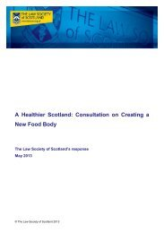 A Healthier Scotland: Consultation on Creating a New Food Body
