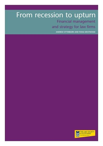 From Recession to Upturn - Law Society of Scotland