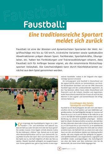 2012_03 Artikel SportPraxis.pdf - Deutsche Faustball-Liga eV