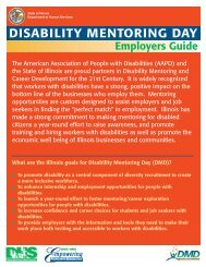 disability mentoring day - Illinois Department of Human Services