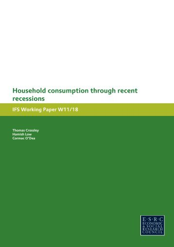 Household consumption through recent recessions