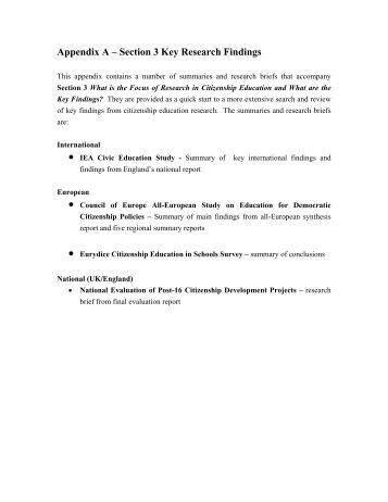 Appendix Research Paper Example