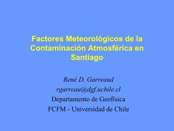 Factores Meteorológicos de la Contaminación Atmosférica en ...