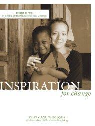 Program Brochure - Graduate School of Education and Psychology ...
