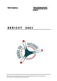 Bündnis für Augsburg Jahresbericht 2004