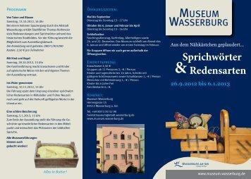 Zum Ausstellungsflyer - Wasserburg am Inn!