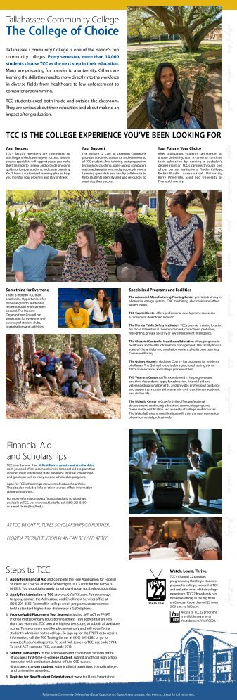 The College of Choice - Tallahassee Community College
